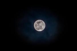 El eclipse penumbral de Luna visible desde Ibiza, en imágenes (Fotos: Daniel Espinosa).