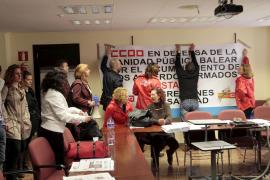 """La Federación de Sanidad de CCOO se encierra en el IB-Salut por """"la defensa de la sanidad pública"""""""