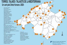 Encendido de bengalas en Mallorca por los derechos humanos del Mediterráneo