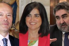 Carolina Darias, ministra de Política Territorial, Rodríguez Uribes, de Cultura, y Juan Carlos Campo, de Justicia
