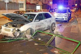 Detenido el conductor de un coche que se dio a la fuga tras un accidente en Palma