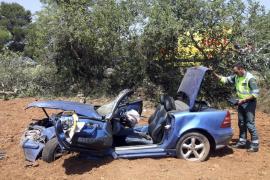 Una mujer, herida grave en un accidente en la carretera de Llucmajor a Campos