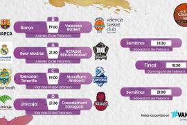 Barça-Real Madrid, posible semifinal en la Copa del Rey de baloncesto