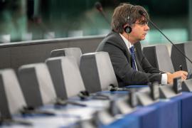 Así han sido las primeras palabras de Puigdemont en el Parlamento Europeo