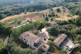Imagen aérea de la casa de Boris Becker en Artà