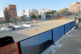 Empieza en Palma la construcción de la primera cancha de fútbol por la inclusión social