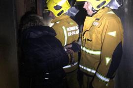 Incendio en un edificio de nueve plantas en Palma