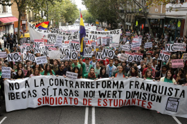 Imagen de archivo de una manifestación de estudiantes