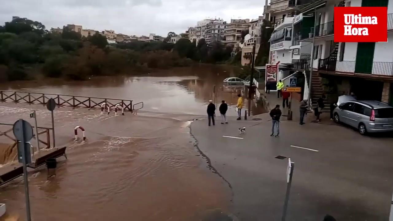 Inundaciones en Porto Cristo por las fuertes lluvias