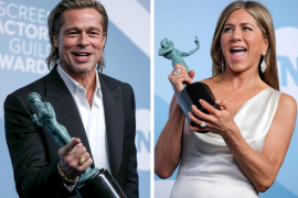 El reencuentro de Brad Pitt y Jennifer Aniston no defraudó
