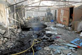 Arde un local de 'okupas' en Llucmajor