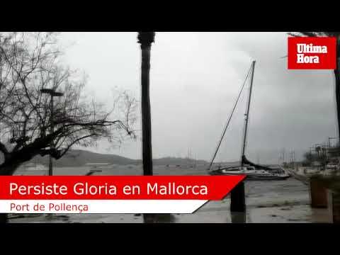 Gloria mantiene en alerta a Mallorca en su tercer día