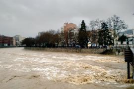 Emergencia en Girona por la crecida del río Onyar