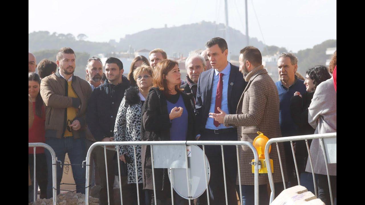 Sánchez se compromete a declarar el Llevant de Mallorca como zona catastrófica