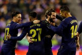Un cabezazo de Nacho da el liderato al Real Madrid