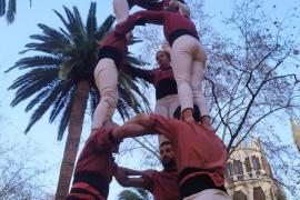 Los Castellers de Mallorca centran las miradas en el cierre de Sant Sebastià en Palma