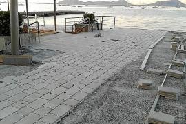 El GOB denuncia unas obras en el paseo catalogado de Voramar del Port de Pollença