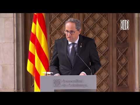 Así ha sido la comparecencia del president de la Generalitat