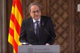 Torra convocará elecciones en Cataluña cuando apruebe los presupuestos