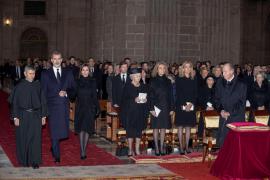 Los Reyes, en el funeral por la infanta Pilar