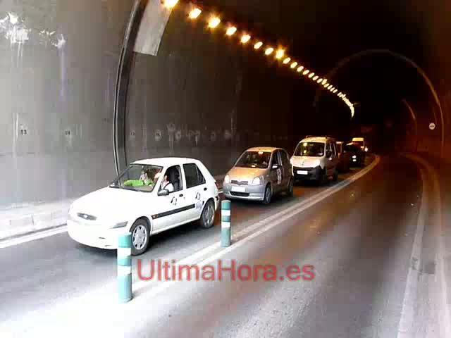 La protesta contra el peaje del túnel de Sóller se salda sin incidentes pero habrá sanciones