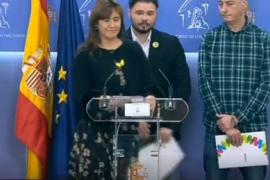 ERC, JxCat, CUP, BNG y Bildu: «No tenemos Rey»