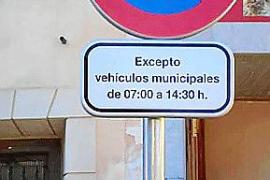 El castellano se abre paso en las señales de tráfico de Campanet