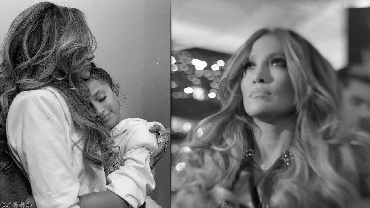 Jennifer Lopez y su hija, tiernos momentos antes de subir al escenario