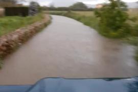 Intensas lluvias en el norte de Mallorca