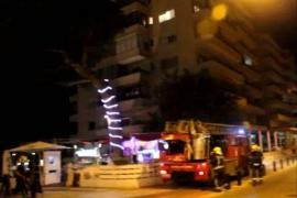Desalojo de 200 vecinos por un incendio en Can Pastilla