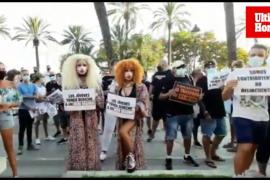 Protesta del sector del ocio nocturno en Mallorca