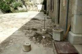 Trabajos de reconstrucción en Lluc tras el cap de fibló