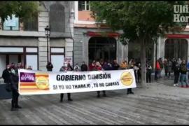 Protesta en Palma por el cierre del interior de los bares