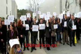 Protesta en la sede de Orizonia