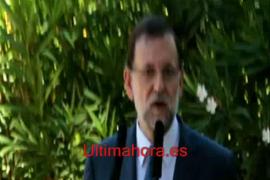 Rueda de prensa de Rajoy en Palma
