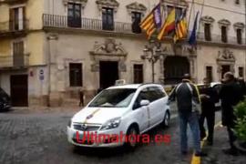 Protesta de taxistas en Palma