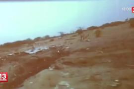 Imágenes de France 2 del lugar donde se hallan los restos del avión