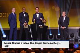 El grito de Ronaldo en la gala del Balón del Oro