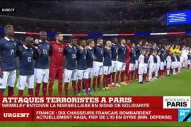 Wembley entona La Marsellesa en honor a las víctimas de los atentados