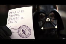 Darth Vader apoya la campaña de Podemos