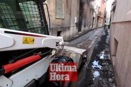 Rotura de una tubería de abastecimiento en Palma
