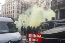 Manifestación de taxistas de todo el Estado en Madrid