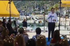 Mariano Rajoy, de mitin en el Port de Sóller