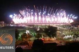 Fuegos artificiales en la inauguración de los Juegos Olímpicos de Río de Janeiro 2016