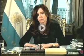 Mensaje de Cristina Fernández