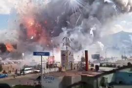 Explosiones en un mercado pirotécnico en México