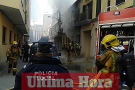 Incendio en el Passatge Marconi de Palma