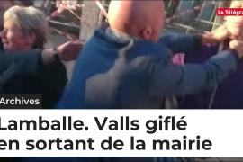 Abofetean a Manuel Valls durante la campaña de las primarias socialistas en Francia
