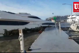 El fuerte viento causa numerosos destrozos en Mallorca