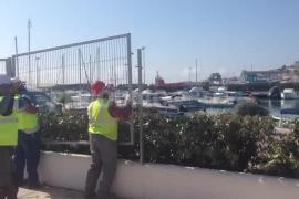 Vila derriba otra barrera con el puerto tras la eliminación de las vallas de Marina Ibiza